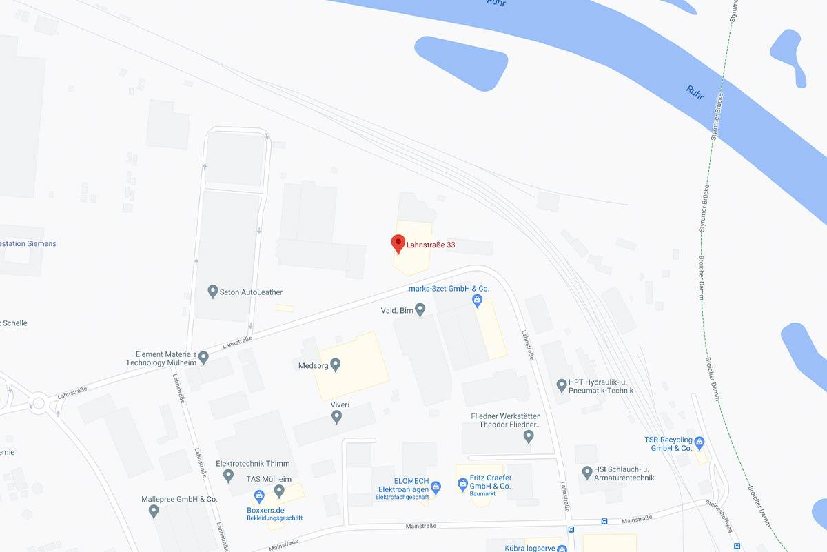 Lageplan, Mülheim Innenstadt