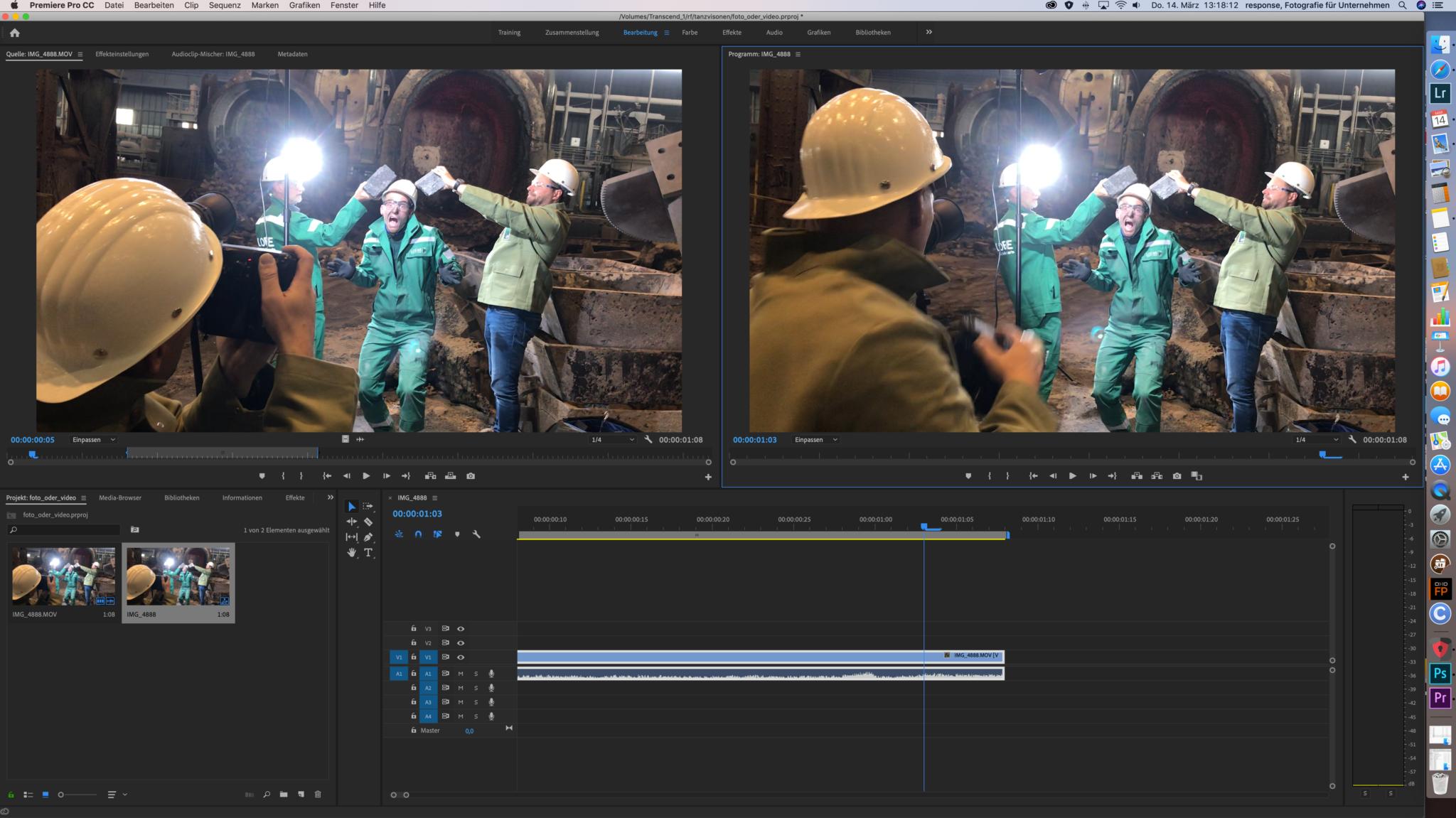 Premiere Pro CC :Schneiden einer Video Datei