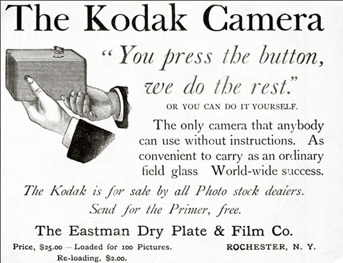 Kodak produziert erste Hobby Kamera