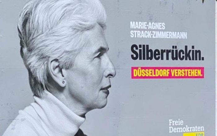 Silberrückin, die Wahlplakatanalyse. FDP Düsseldorf.